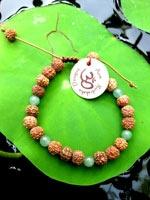 Aum Rudraksha bracelet