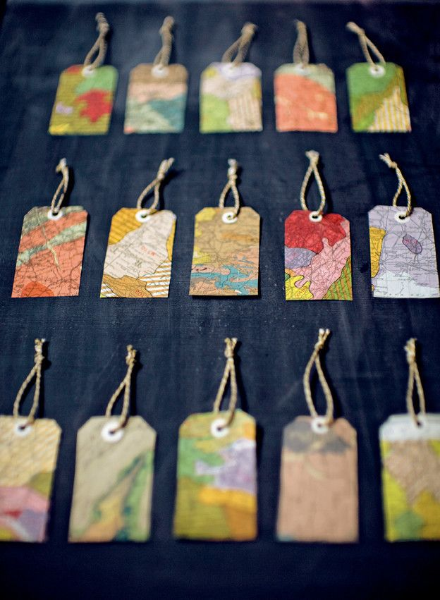 Gift Tags  •  Free tutorial with pictures on how to make a gift tag in under 30 minutes