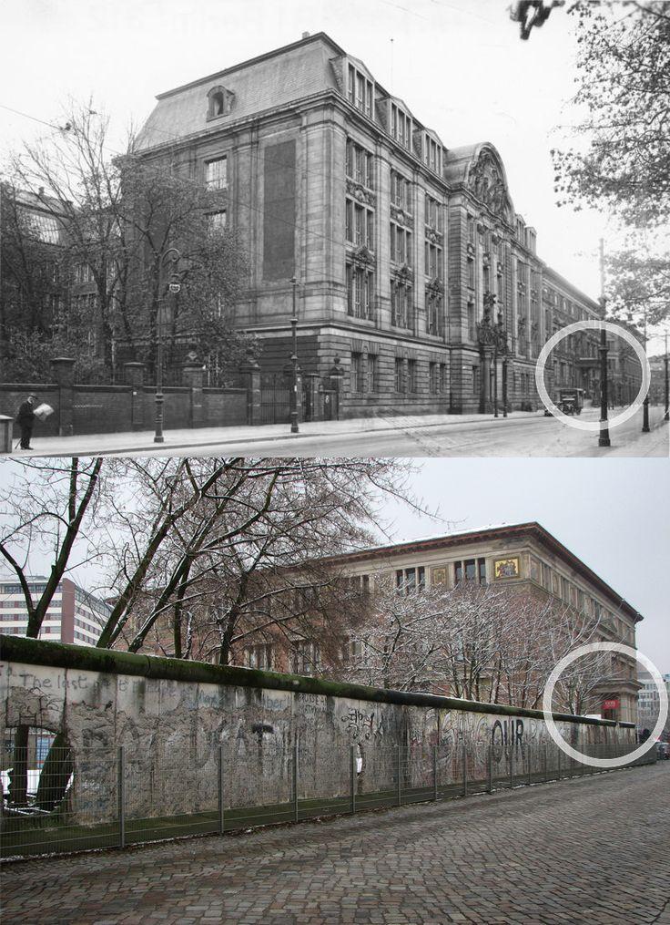 Berlin, Geheimes Staatspolizeihauptamt Prinz-Albrecht-Strasse, indeed topography of terror before and after.