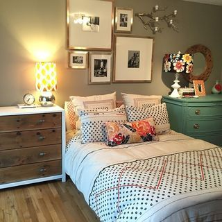 Cute look for daughters first home or girls dorm room. Anthropologie look