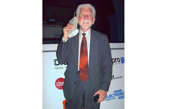 THE CELL PHONE – USA, 1973 Most people these days would be lost without their mobile device. The first handheld mobile cell phone, a bona fide brick of a device, was invented by a team of Motorola engineers led by John F. Mitchell and Martin Cooper and unveiled in 1973.