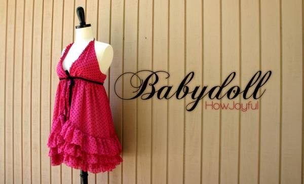 nuisette babydoll DIY : nuisette babydoll