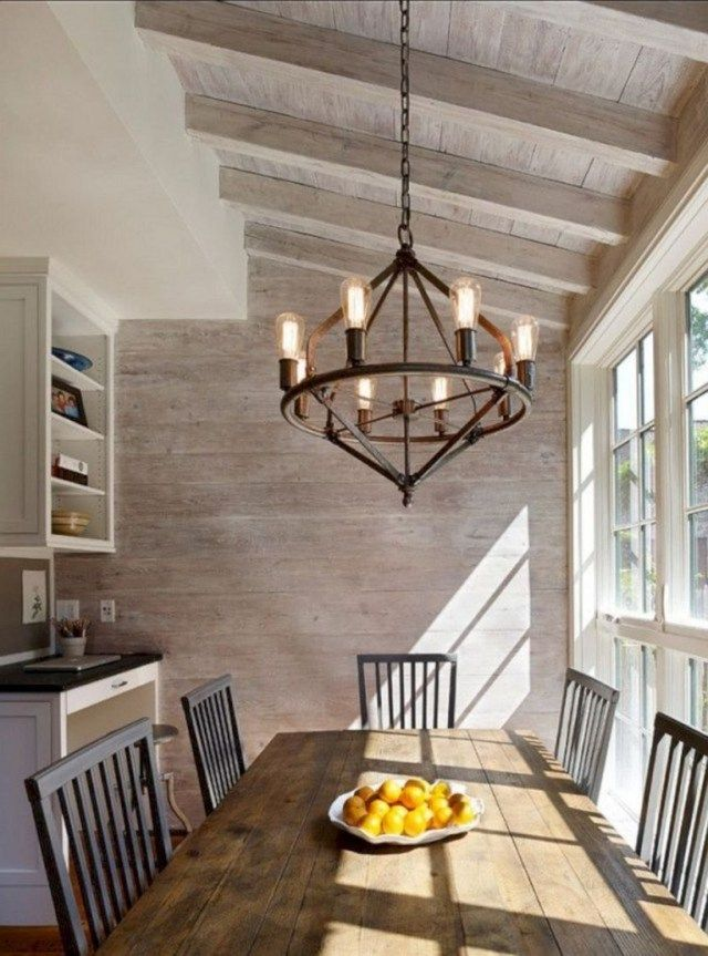 30 Awesome Dining Room Lighting Ideas For Big Family Page 22 Of 31 Rustic Dining Room Lighting Rustic Dining Room Modern Farmhouse Dining