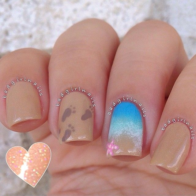 Sea and sand nail art ===== Check out my Etsy store for some nail art supplies https://www.etsy.com/shop/LaPalomaBoutique