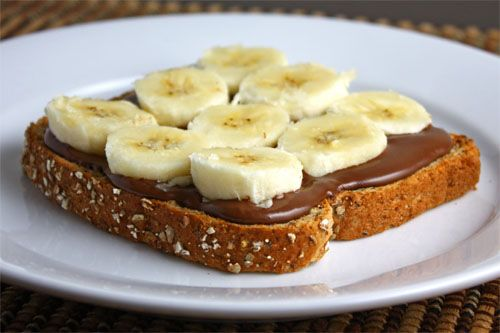 You can't go wrong with a Nutella banana sandwich