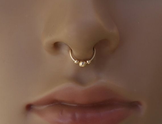 Septum Jewelry in Gold  Fake septum ring by Tribalane on Etsy