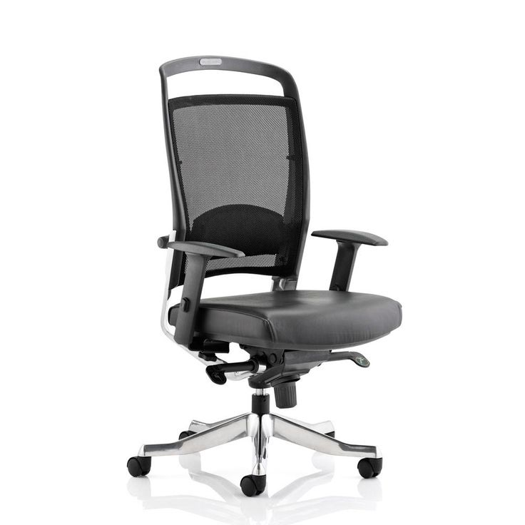 high back mesh office chair with leather effect headrest. faulkner mesh office chair - high back | packed full of ergonomic adjustments and with a leather effect headrest d