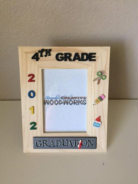 4th Grade Graduation Picture Frame 5x7 4th Grade Promotion