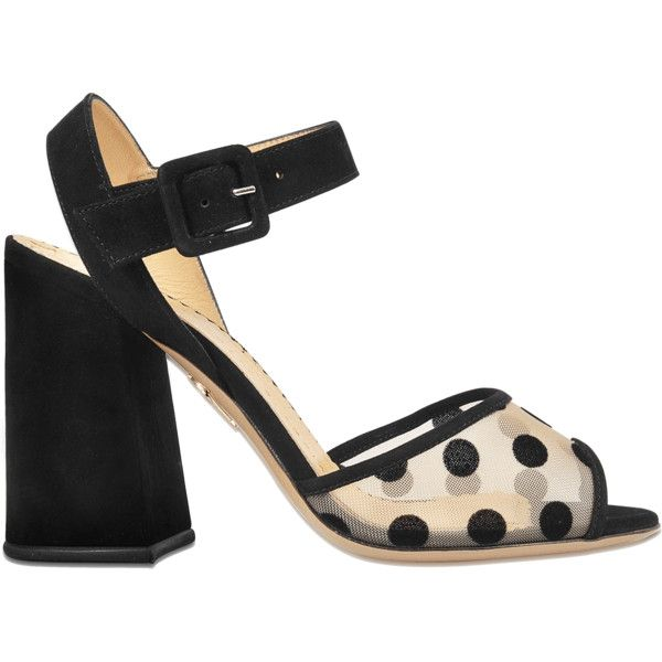 Charlotte Olympia Emma polka dot sandal found on Polyvore featuring shoes, sandals, multicoloured, multi colored shoes, multicolor shoes, colorful shoes, polka dot shoes and charlotte olympia sandals