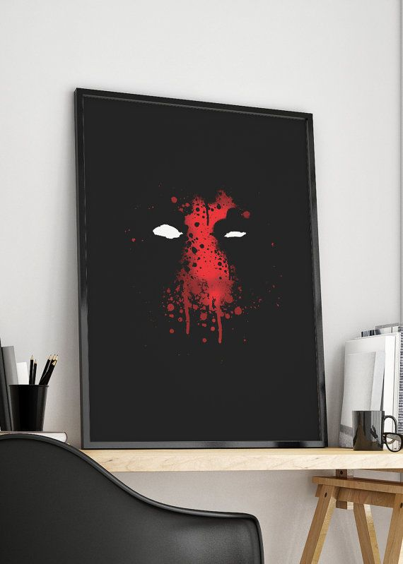 Deadpool 2016 Watercolor Poster Ready for by SublimeDesignStore