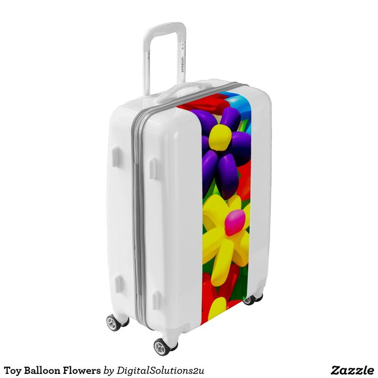 Toy Balloon Flowers Luggage