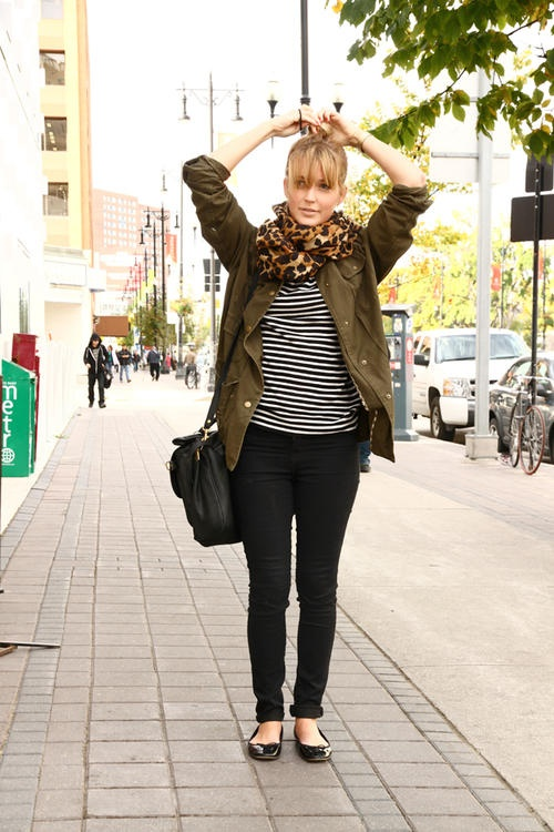 leopard / stripes / utility jacket- another variation of my favorite things all combined.