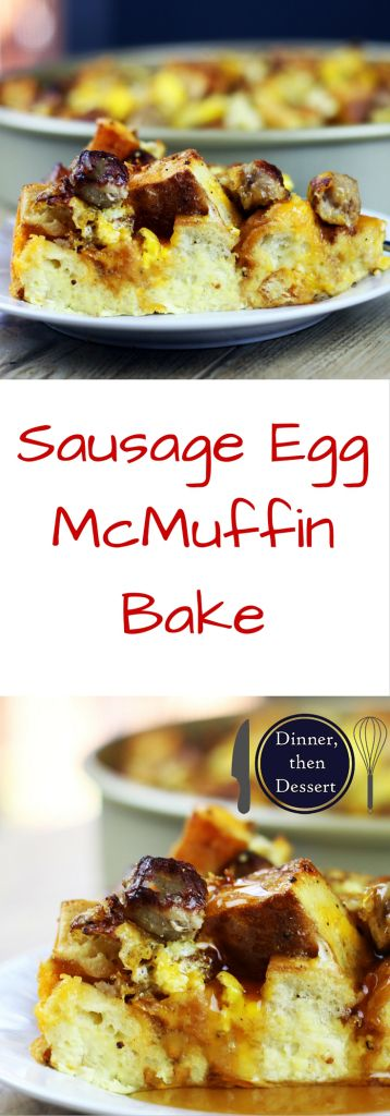 eggs, breakfast sausage and cheddar cheese for a delicious egg bake ...