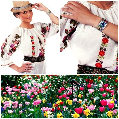 We just love colors! It's summertime and this blouse is a perfect piece of clothing for hot summer days!  #florideie #fashion #style #romaniandesign #trend #colorful #elegant #embroidery #unique #flowers #blouse #nature #summer