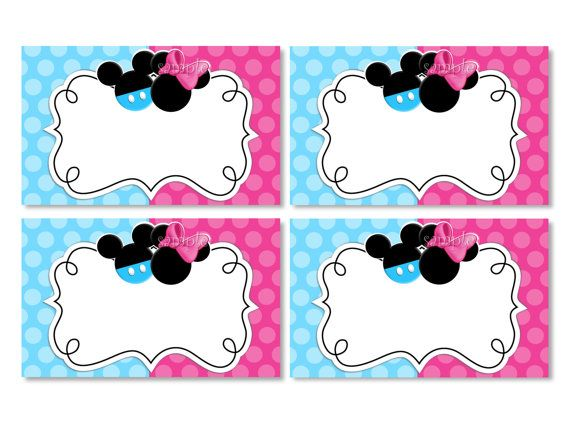 INSTANT DOWNLOAD Blank Mickey and Minnie by ThePrintableOccasion