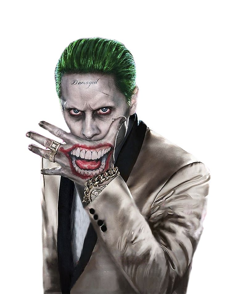 Joker Suicide Squad PNG by MessyPandas