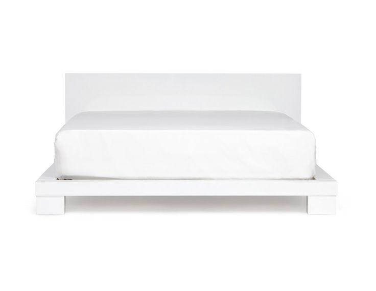 MADISON - Double size bed - White