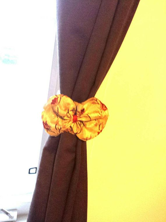 Check out this item in my Etsy shop https://www.etsy.com/ca/listing/263374873/curtain-holder-silk-bow-holder-red-bow