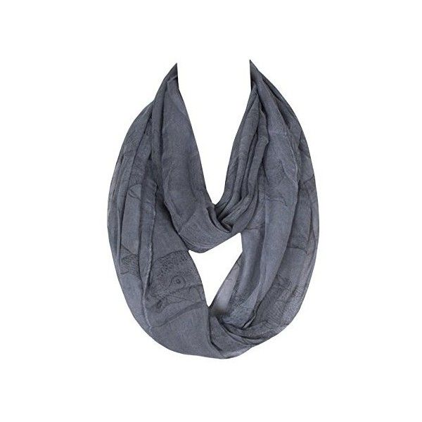 DAMILY Infinity Scarf Ancient Fish Loop Tube Scarf Ring (3,21 SEK) ❤ liked on Polyvore featuring jewelry, rings, fish jewelry and fish ring