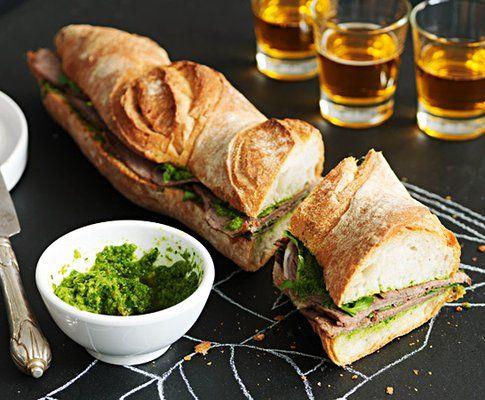 Sandwich di lesso con salsa Chimichurri
