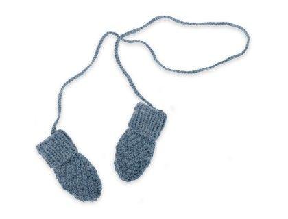 Des Moufles pour bébé tricotées. Sans pouce, facile à enfiler pour l'hiver (et la neige)