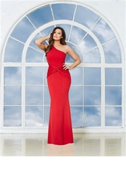 Jessica Wright Nikolina Red One Shoulder Maxi Dress  £80.00 Make an entrance in this glamorous red maxi dress. Featuring a one shoulder cut and ruched detail. Team with a pair of metallic heels, slicked back hair and a burgundy lip for an edgy evening look.   Colour: Red