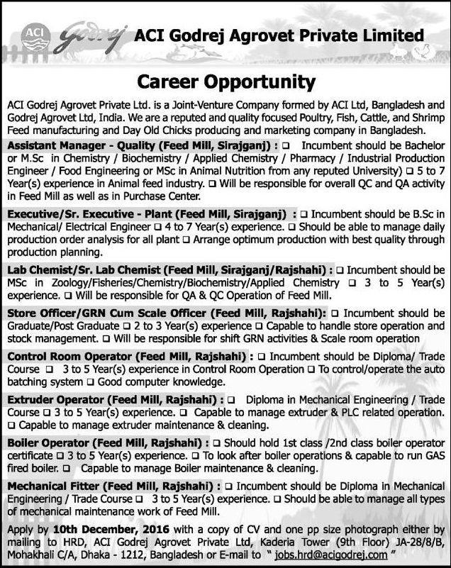 Kohinoor Chemical Company Bangladesh Limited Job Circular Job - store officer sample resume
