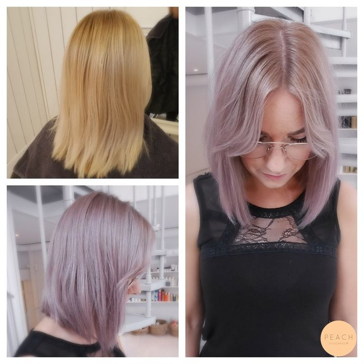 Pastell lila hårfärg