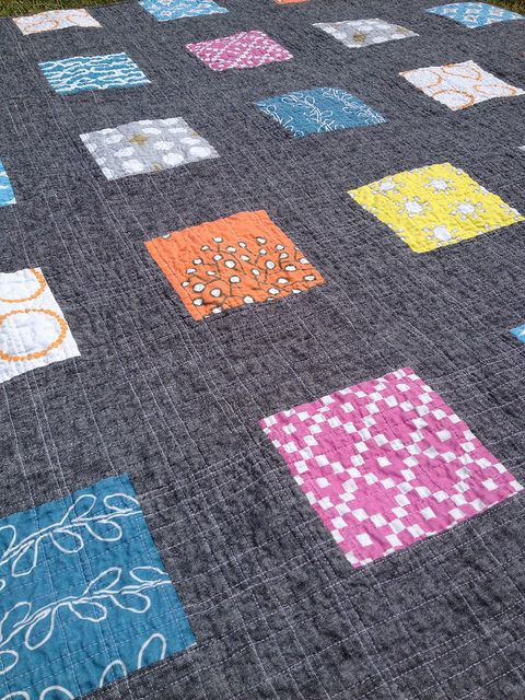 love the cross hatch quilting lines.............. by Michelle @ i like orange
