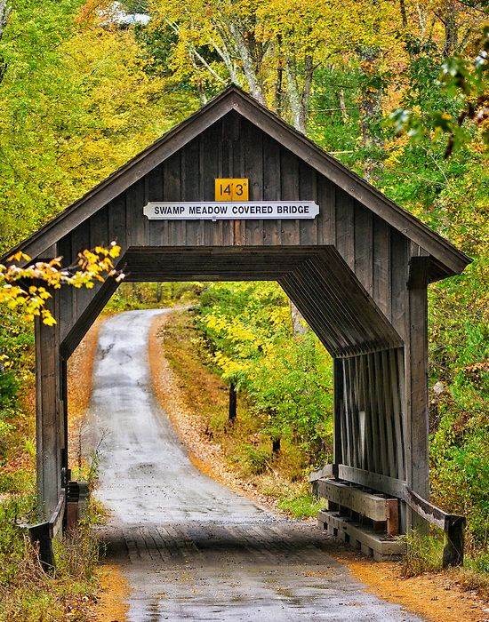 Swamp Meadow Covered Bridge, Foster, Rhode Island