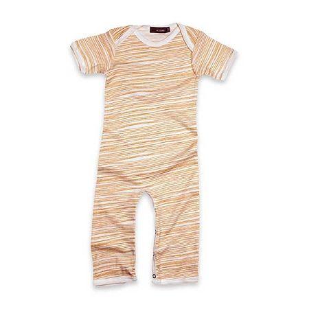 Milkbarn Organic Romper - Orange Stripe Organic Baby Clothes