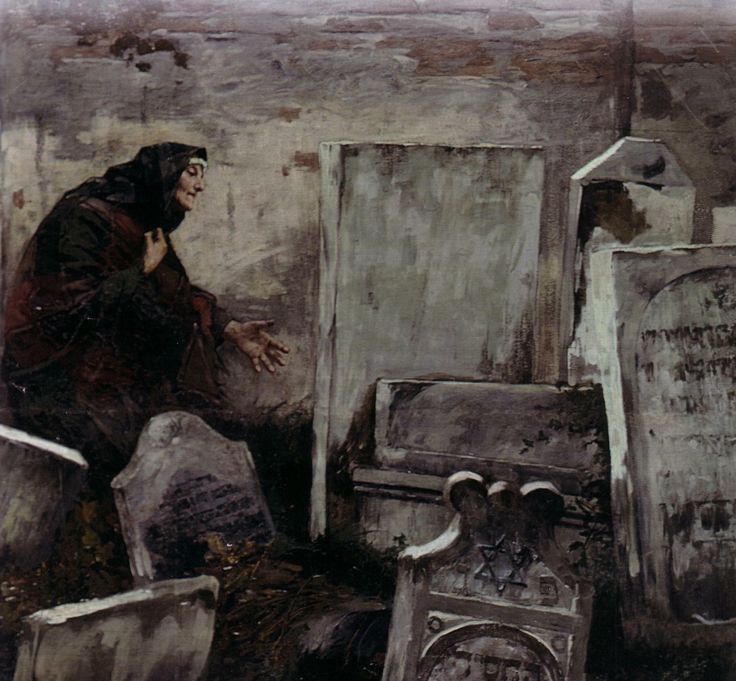 Samuel Hirszenberg - The Jewish Cemetery