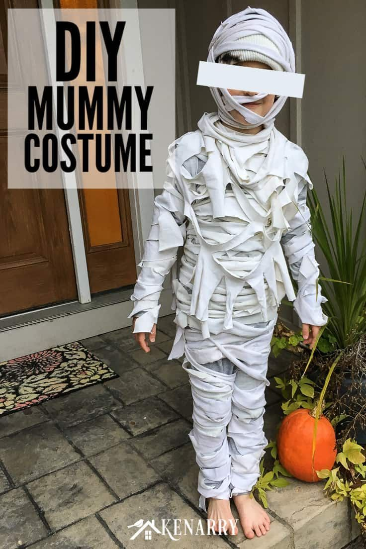 Mummy Costume for Kids Easy DIY Halloween Costume