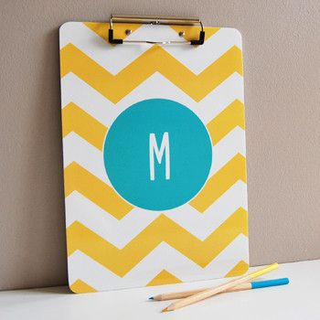 Personalized clipboard // Sarah + Abraham #custom #chevron #office
