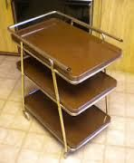 mid century serving cart with removable tray - Google Search