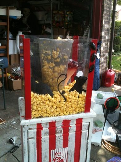 Oh Great!!!! Now more things to add to my list!! Thanks guys!!!!!!!!!!!!!!!LOLI got my popcorn machine done this weekend.  used a blow dryer and it's soooo loud!! Any suggestions on how to conceal the noise?