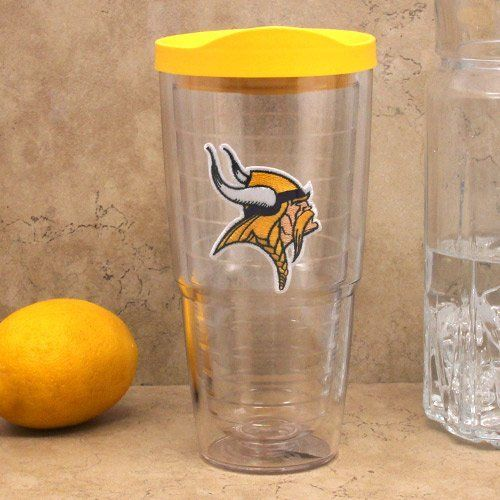 NFL Tervis Tumbler Minnesota Vikings 24oz. Logo Tumbler with Lid by Tervis Tumbler. $23.95. Do not microwave lid. Lid is dishwasher safe, top rack only. Tervis Tumbler Minnesota Vikings 24oz. Logo Tumbler with LidEmbroidered logo patchDo not microwave lidReduces condensationOfficially licensed NFL productDurable, high-grade polycarbonateMade in the U.S.A.Lid is dishwasher safe, top rack onlyDishwasher safeMicrowave safe, excluding lidHolds approximately 24 ouncesLi...