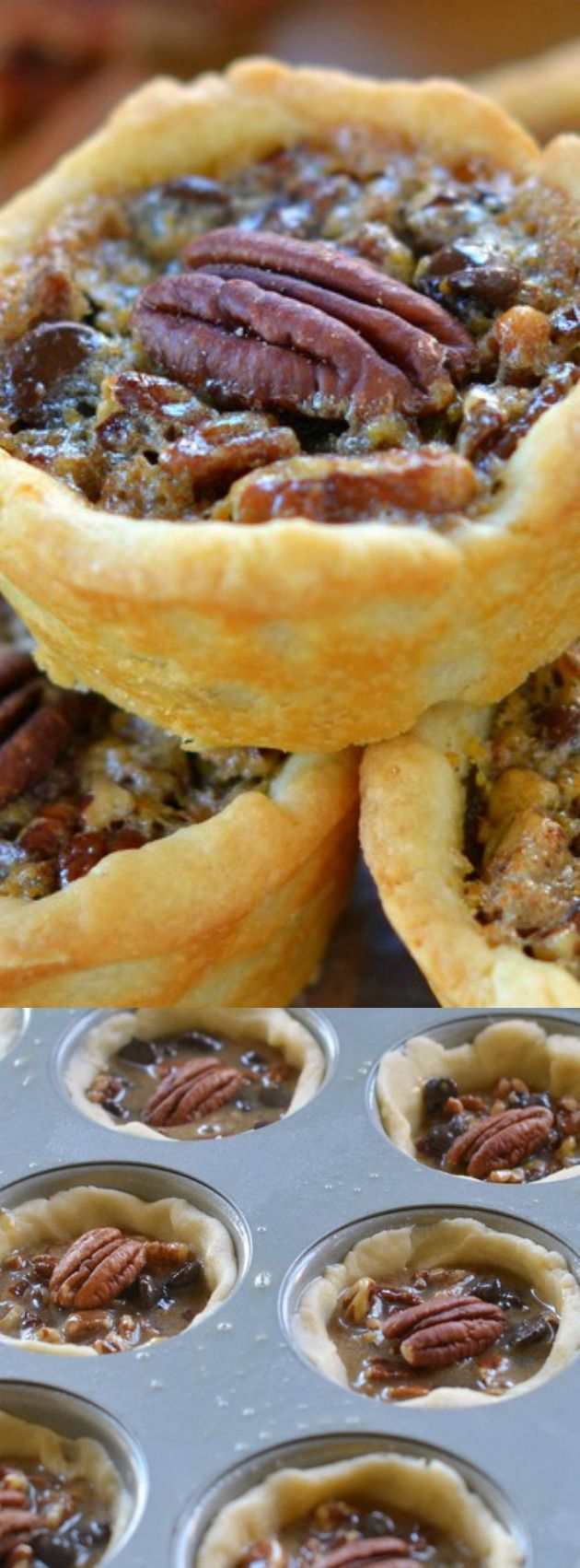 These Mini Chocolate Pecan Pies from Mom on Timeout make the perfect mini dessert for the holiday season. They have sweet chocolate morsels and delicious pecans for a treat that everyone will love — in bite size form! The recipe calls for simple ingredients and they are ready from start to finish in just 40 minutes.