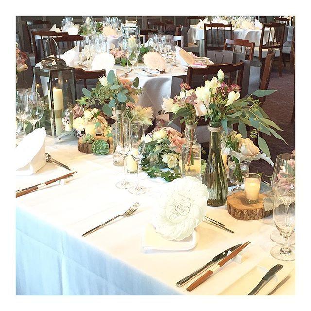 #weddingflower 裏側。お2人から見える景色。 懐かしい気持ちになるんです。 #wedding#会場装花#前picの裏側