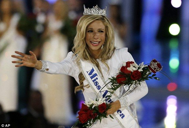 Not nice: New Miss America Kira Kazantsev was allegedly kicked out of her sorority last year for hazing pledges