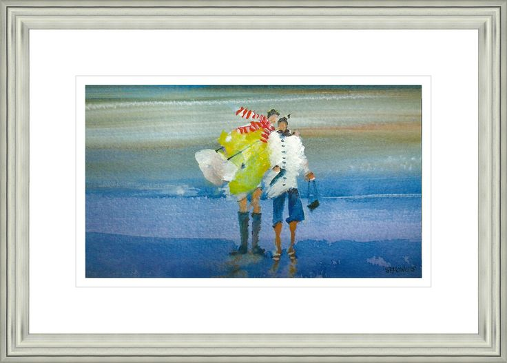 'We Love To Paddle' by Sue Howells.  High Quality Reproduction Framed Print finished with glass panel & expertly framed by Spires Art framing team. Size: 14in X 18in
