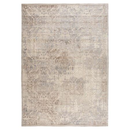 Stylishly anchor your living room or master suite with this artfully crafted rug, showcasing a vintaged Persian-inspired motif in ivory.