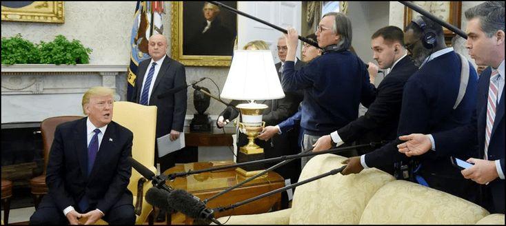 صحافی کے سوال پرصدرٹرمپ اگ بگولہ رپورٹرکو پریس کانفرنس سے نکال دیا