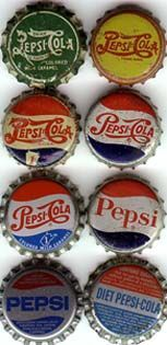 antique pepsi caps -