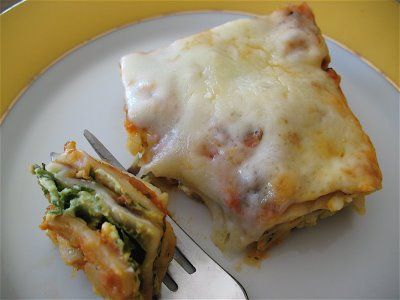 """Albion Cooks: Matzo Lasagna for Passover. Offers valuable tip: """"The trick is to soak the matzo in warm water (or wine), so it's not too dry and crumbly. Otherwise, you could follow any vegetarian lasagna dish and simply substitute soaked matzo for the pasta."""""""