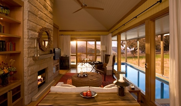 Wolgan Valley Resort. Beautiful place to stay but very exey....
