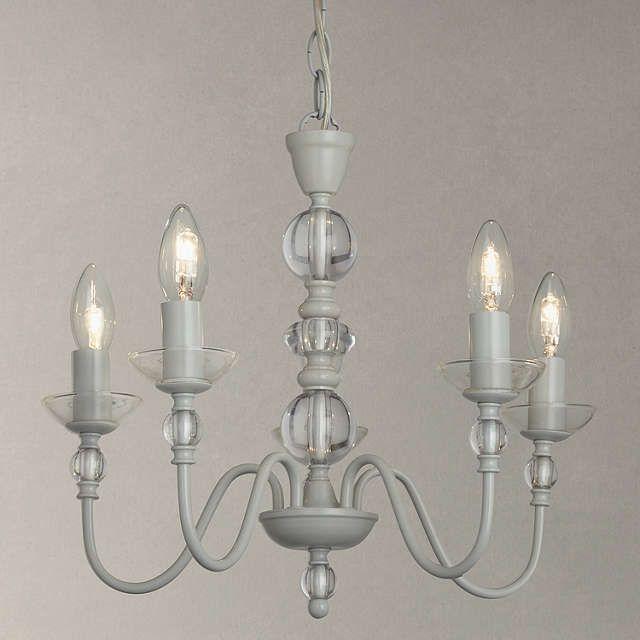 BuyJohn Lewis Eloise Glass Ceiling Light, 5 Arm, Grey Online at johnlewis.com