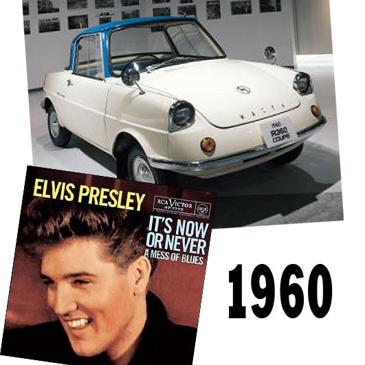 """The Mazda R360 Coupe 2 Door was released the same year that """"The King"""", Elvis Presley, told us """"It's Now or Never"""""""