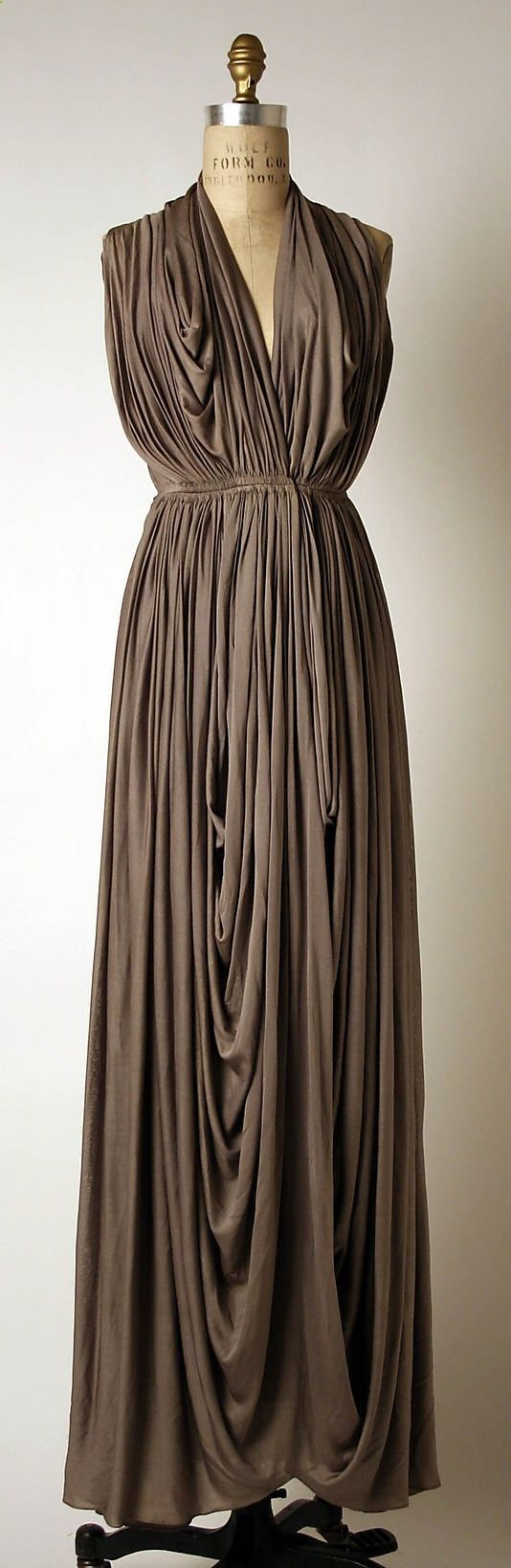 Dress, Evening Madame Grs (Alix Barton) (French, Paris 19031993 Var region) Date: 193739 Culture: French Medium: silk