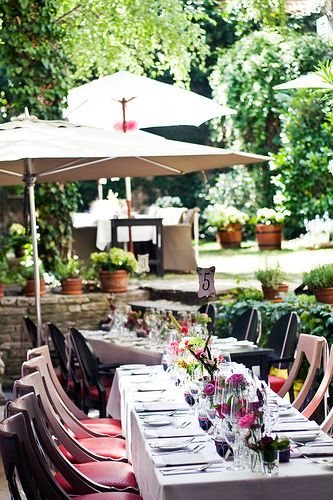 Pierrot http://pierrot.hu/ | Wedding #budapest #restaurant #pierrot #design #outdoorfurniture #wedding